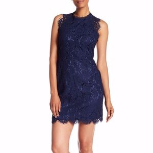 Laundry by Shelli Segal Lace T-Back Dress, Blue